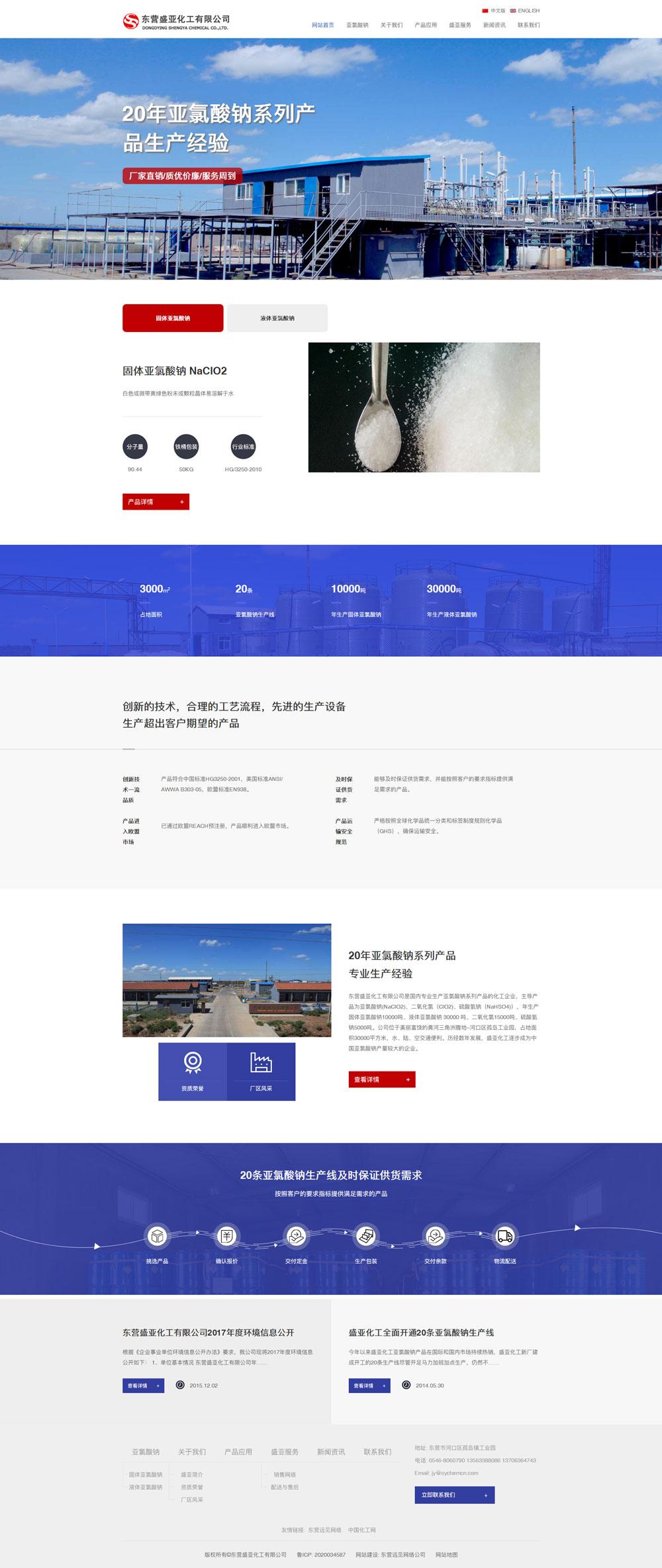 东营盛亚化工有限公司网站制作完成